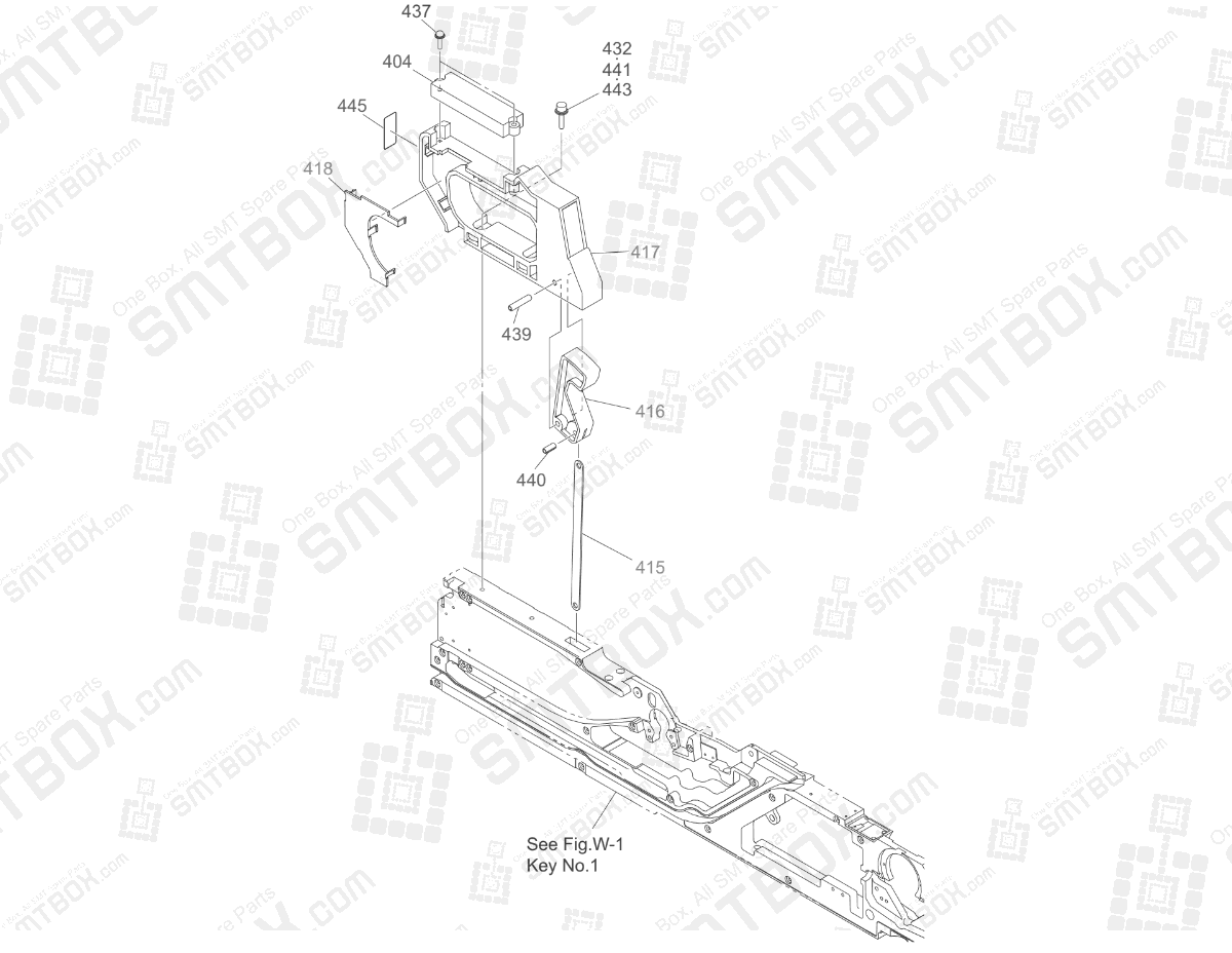Operation Panel Section of Hitachi SMT Tape Feeder Part List of GT-18080B, 18081B, 18082B, 18083B