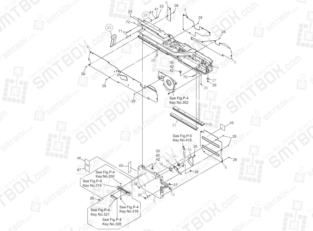 P-1 Frame Section of Hitachi Yamaha SMT Tape Feeder GT-24321B