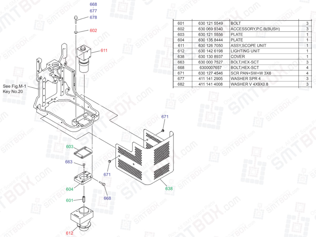 PEC Recognition Camera For Head Section on Yamaha Hitachi Chip Mounting System HH-G300 High Speed Head Unit
