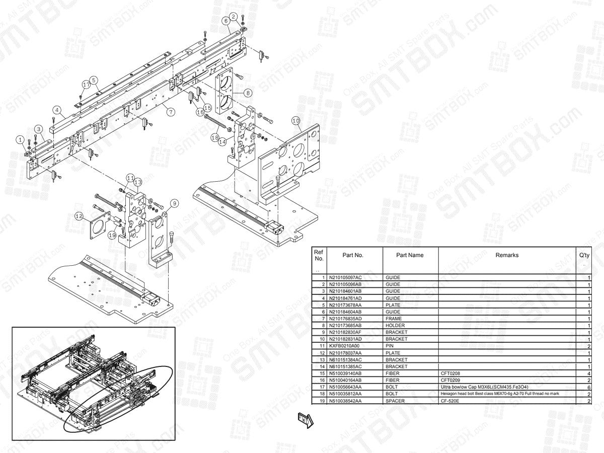 Panasonic NPM-D2 PC Dual Conveyor N610154079AD KN610154079AD-06-1