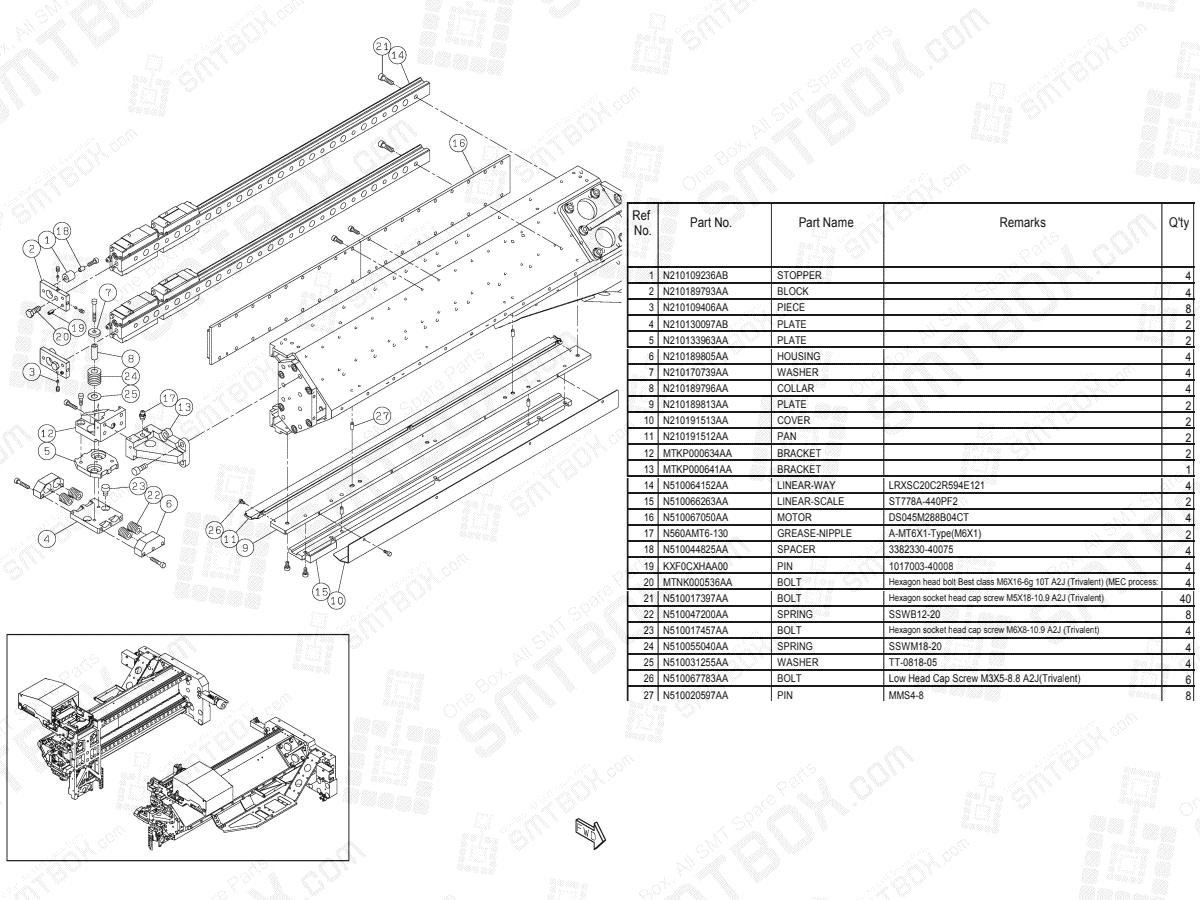 Panasonic NPM-D3 X-Axis N610160756AA KN610160756AA-13-2