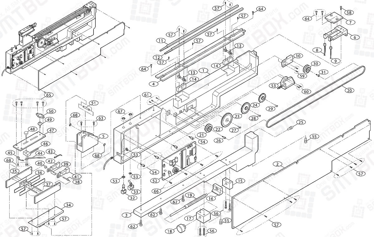 Parts List For Hanwha Samsung Single Belt Stick Feeder FS-01-BS FS-01-BL