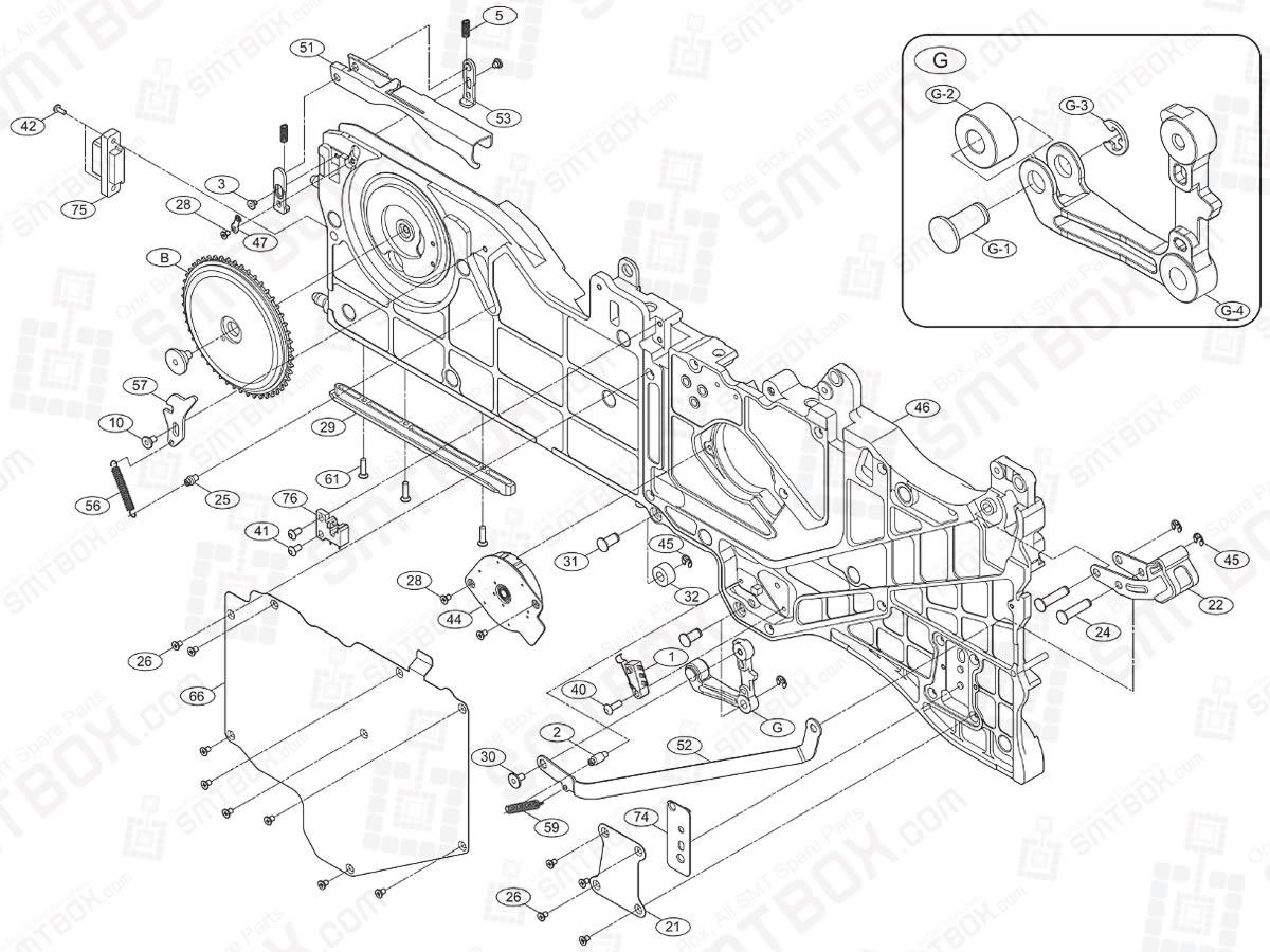 SMT Feeder Part List of Hanwha EXCEN Series V 12mm Feeder MF2-1131/CO side a
