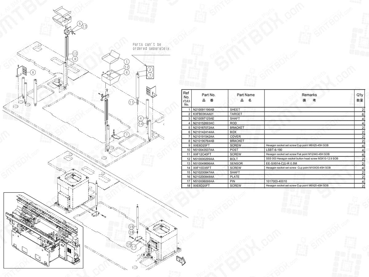 Section No.1-E of Panasonic NPM-D3 Main Body N610160755AA