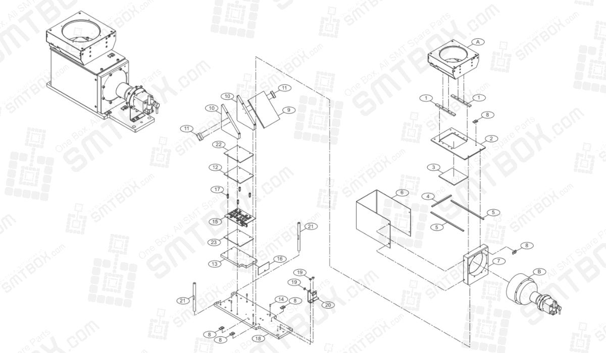 Stage Camera AM03-008135B AM03-008825A AM03-008135B AM03-000870A AM03-008135A On Hanwha Techwin Excellent Modular EXCEN PRO (M) (D) (L) Component Placer