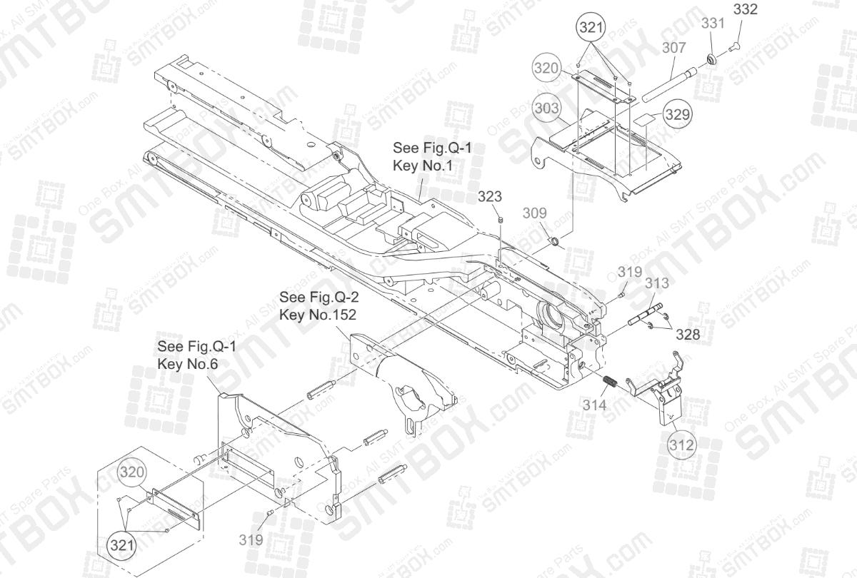 Suppressor Section on Hitachi Yamaha SMT Tape Feeder 44mm 56mm GT-44561B GD-44561B