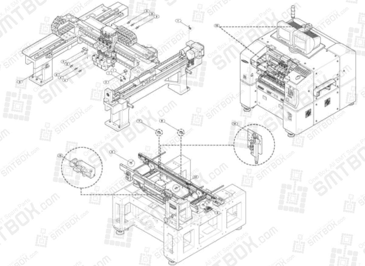 The Sensor Part List of Samsung Component Placer CP-40C CP-40C(V) CP-50CM