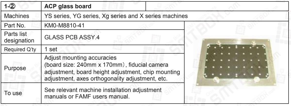 Yamaha ACP Glass Board KM0-M8810-41 For YS, YG, XG And X Series SMT Mounters