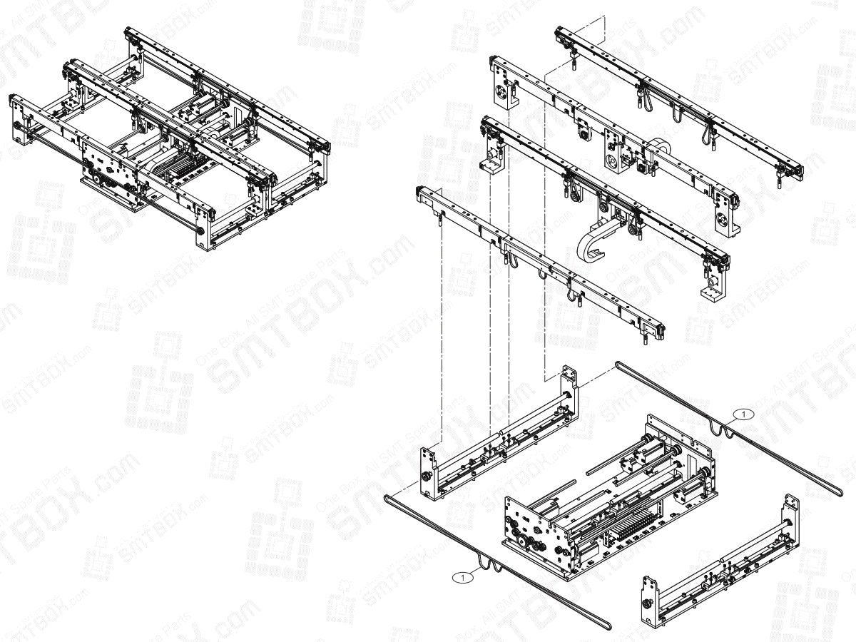 Conveyor(1/7) On Hanwha Techwin Excellent Modular EXCEN PRO (D) (M) (L) SMT Component Placer