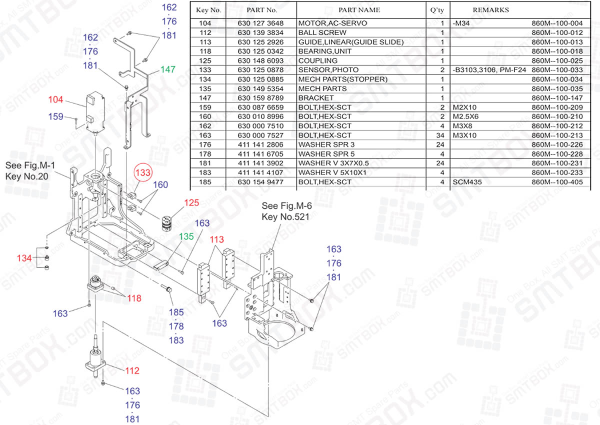 Head Leveller For Head Section on Yamaha Hitachi Chip Mounting System HH-G300 High Speed Head Unit