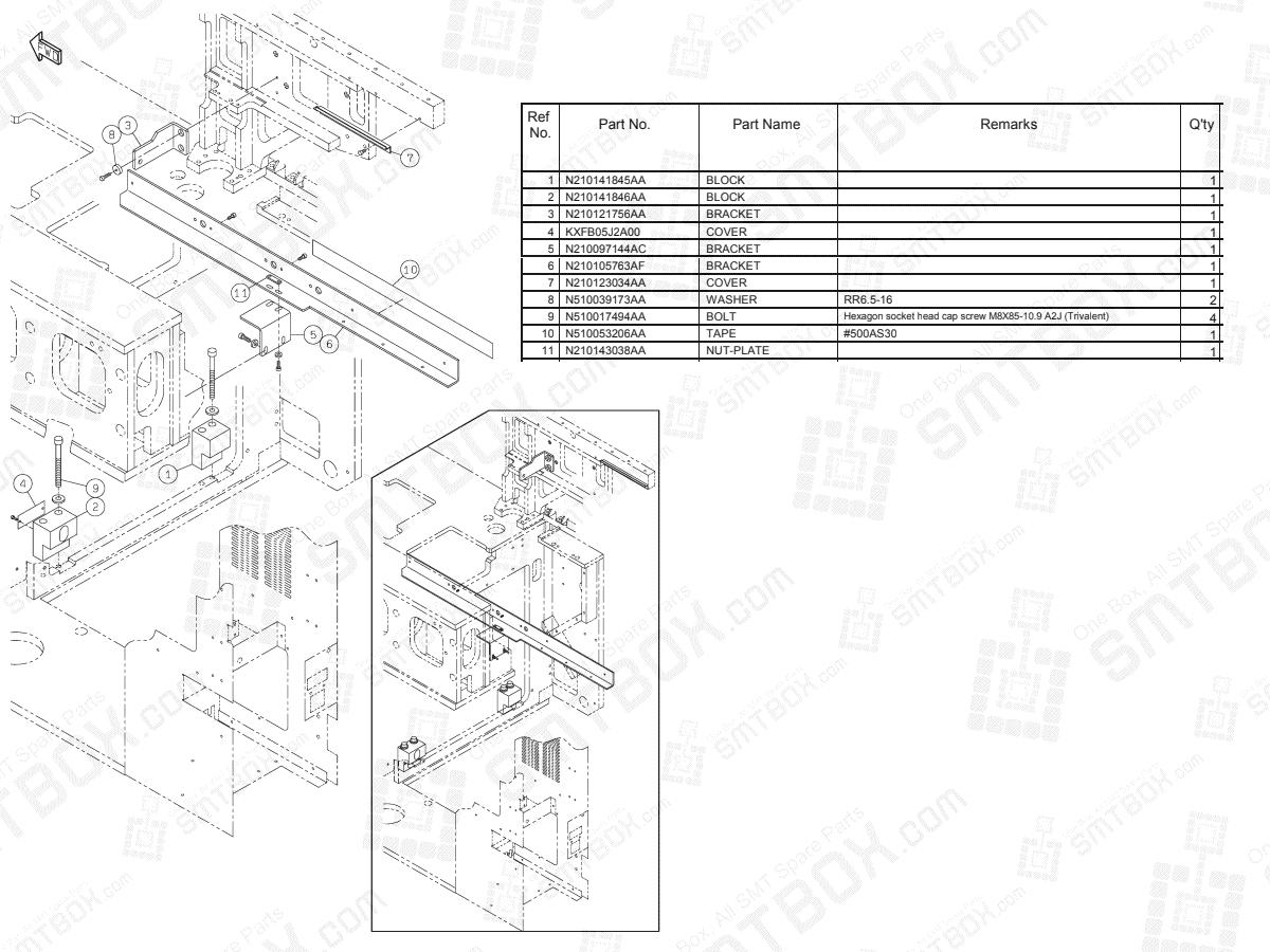 Panasonic NPM-D Tray Feeder Connecting Unit N610117908AA KN610117908AA-03