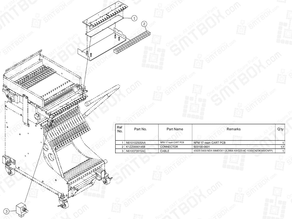 Panasonic NPM Feeder Cart (17 Rows)(H) N610065247AA KN610065247AA-14