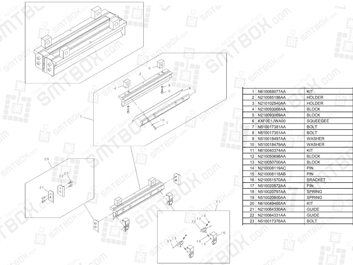 Panasonic SP18 Advanced Metal Squeegee Set (L = 270) N610068076AA