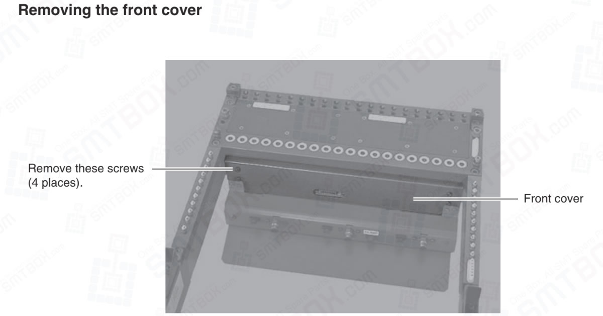 Remove These Screws (4 Places) To Removing The Front Cover of CLi Feeder Exchange Carriages