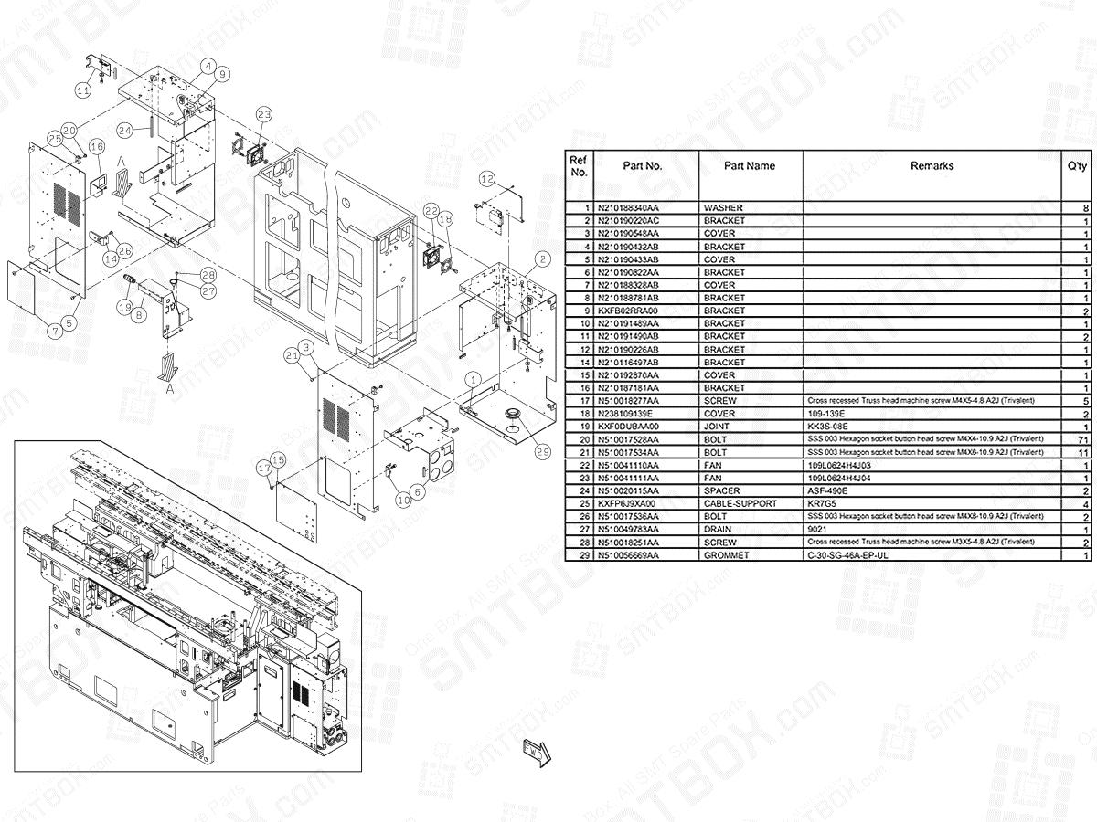 Section No.1-C of Panasonic NPM-D3 Main Body N610160755AA