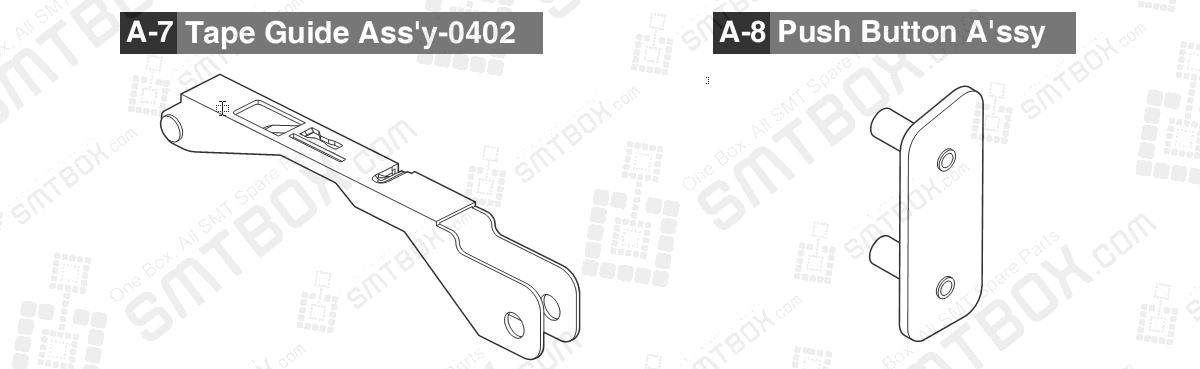 Sub 3.1 Part list of Hanwha Samsung Techwin 8mm SMN Tape Feeder SM DECAN IT 8mm4P SBFB32010K 8mm2P SBFB32000K
